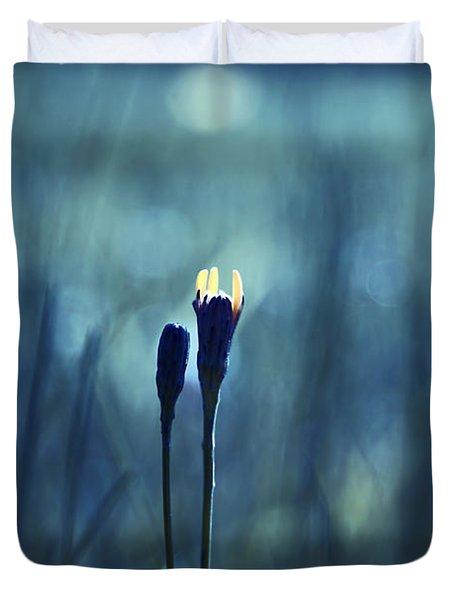 Le Centre De L Attention - Blue S0203d Duvet Cover by Variance Collections