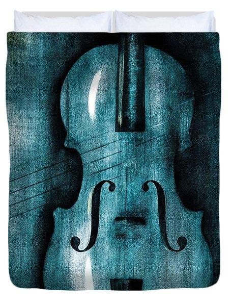 Le Violon Bleu Duvet Cover by Hakon Soreide