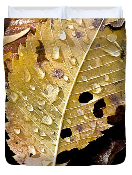 leafy tears Duvet Cover by Burney Lieberman