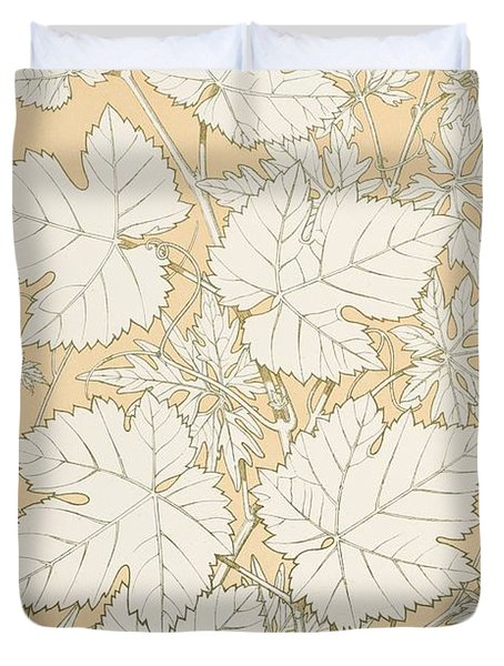Leaves From Nature Duvet Cover by Christopher Dresser