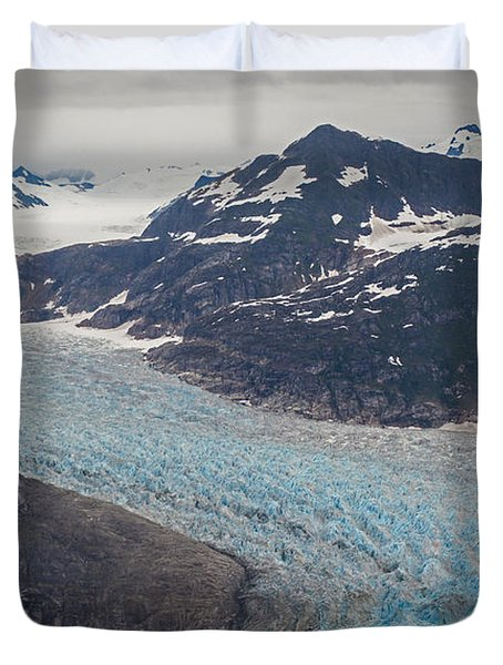 LeConte Glacial Flow Duvet Cover by Mike Reid