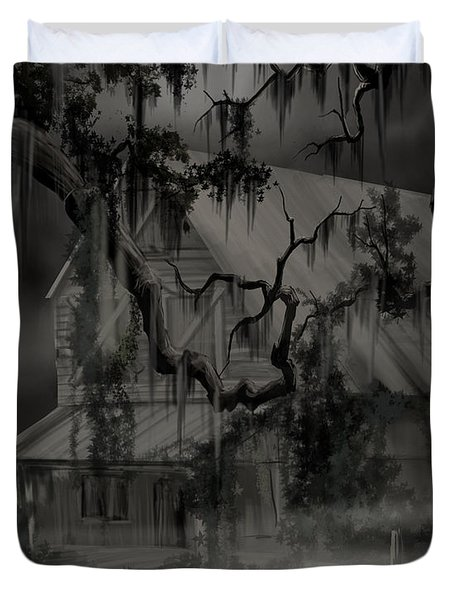 Legend Of The Old House In The Swamp Duvet Cover by James Christopher Hill