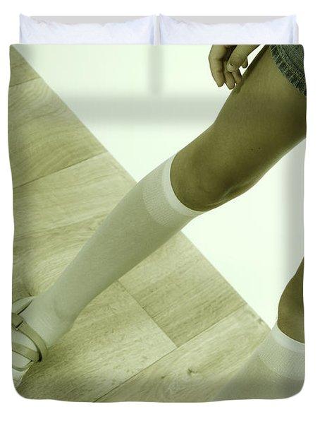 Legs Of A Girl Duvet Cover by Joana Kruse