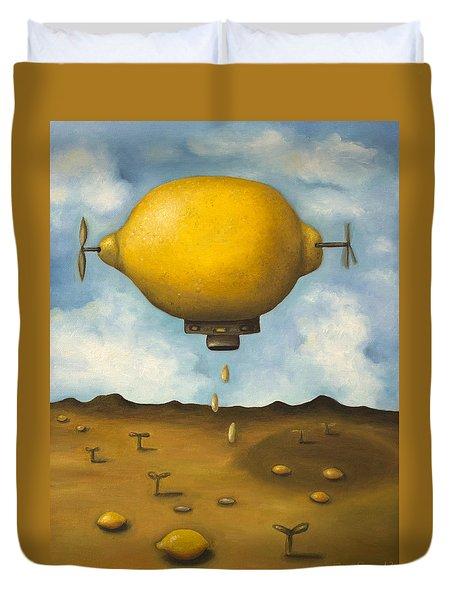 Lemon Drops Duvet Cover by Leah Saulnier The Painting Maniac