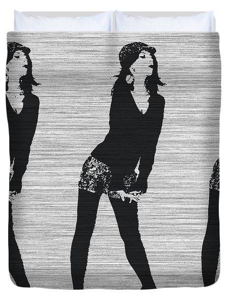 Lena In Dark Duvet Cover by Naxart Studio