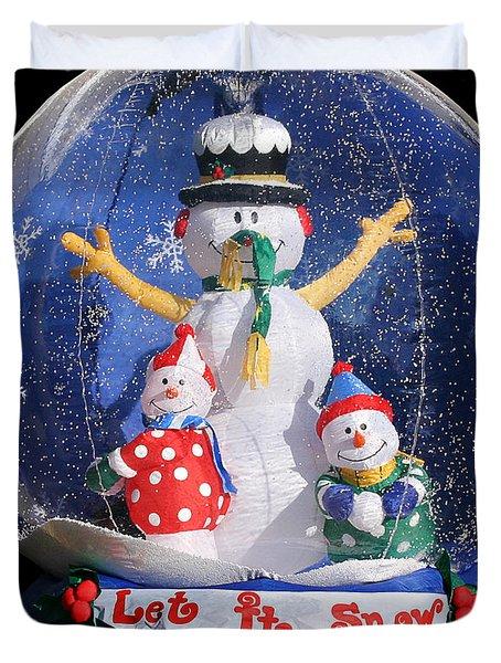 Let it snow Duvet Cover by Christine Till