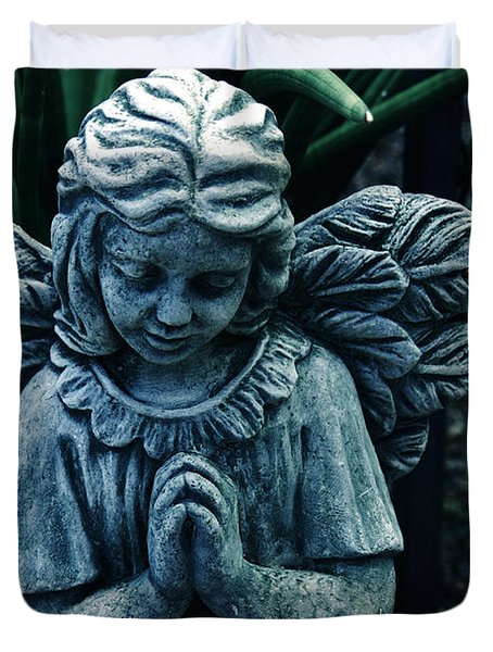 Lets Pray Duvet Cover by Susanne Van Hulst