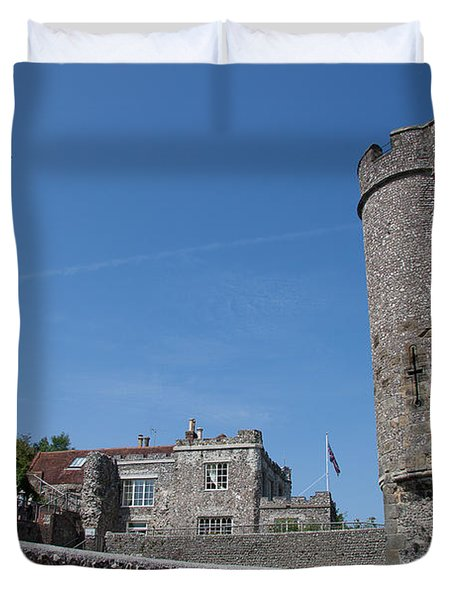 Lewes Castle Duvet Cover by Dawn OConnor