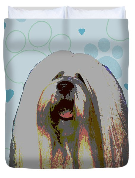 Lhasa Apso Duvet Cover by One Rude Dawg Orcutt