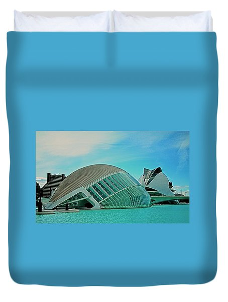 L'hemisferic - Valencia Duvet Cover by Juergen Weiss