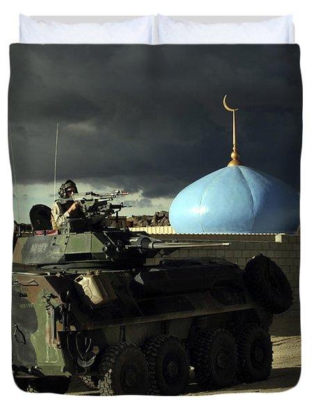Light Armored Vehicle Commander Mans Duvet Cover by Stocktrek Images