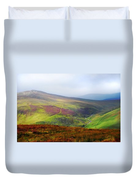 Light Over Wicklow Hills. Ireland Duvet Cover by Jenny Rainbow