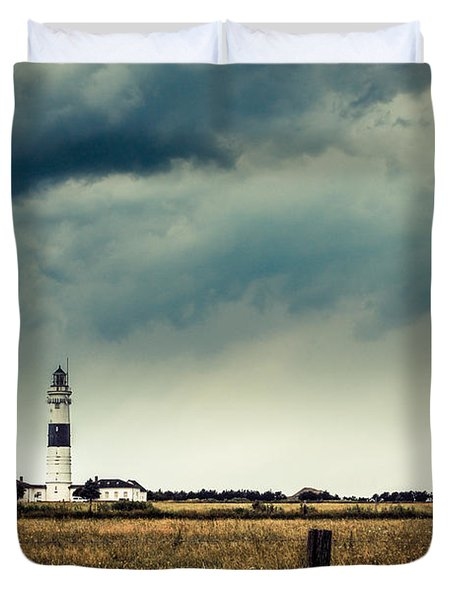 Lighthouse Of Kampen -vintage Duvet Cover by Hannes Cmarits