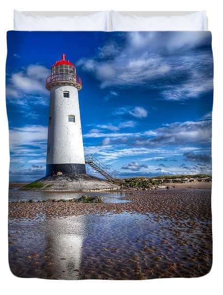 Lighthouse Reflections Duvet Cover by Adrian Evans