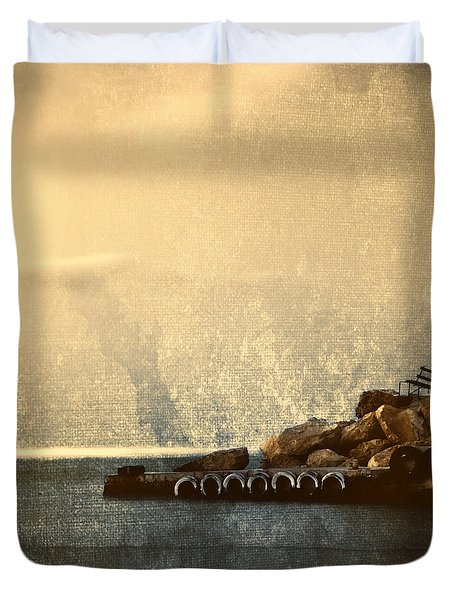 Lighthouse Duvet Cover by Stelios Kleanthous