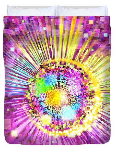 lighting effects and graphic design Duvet Cover by Setsiri Silapasuwanchai