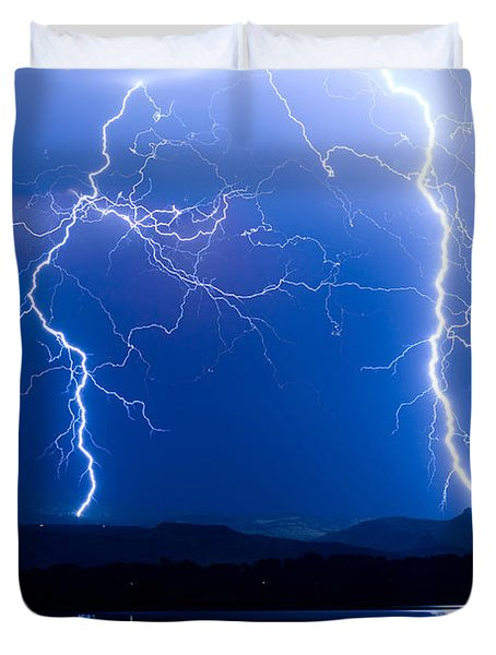 Lightning Storm 08.05.09 Duvet Cover by James BO  Insogna