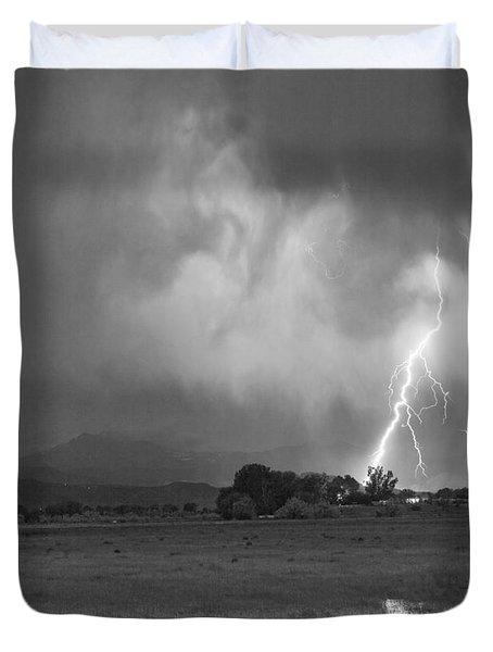Lightning Striking Longs Peak Foothills 8cbw Duvet Cover by James BO  Insogna