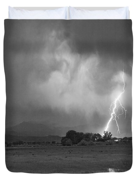 Lightning Striking Longs Peak Foothills 8CBW Duvet Cover by James BO  Insogna