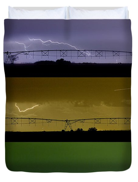 Lightning Warhol  Abstract Duvet Cover by James BO  Insogna