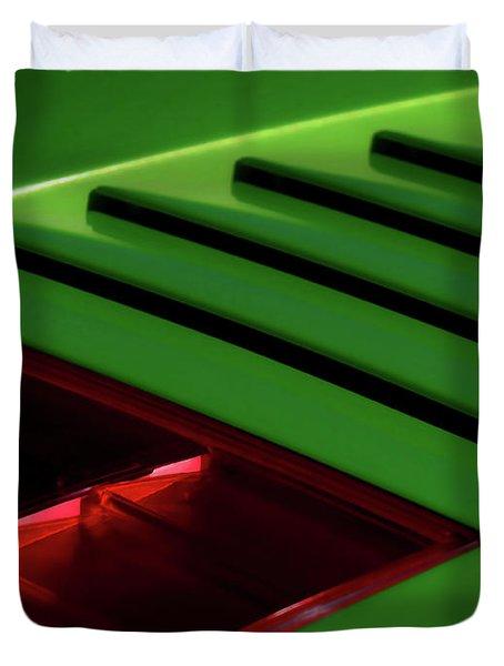 Lime Light Duvet Cover by Douglas Pittman