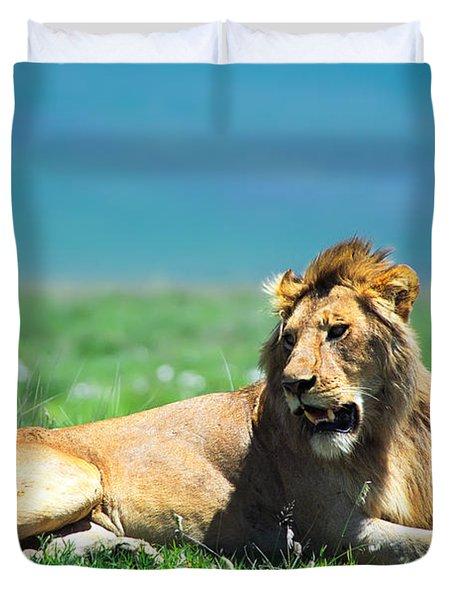 Lion King Duvet Cover by Sebastian Musial