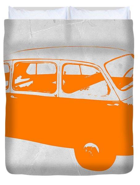 Little Bus Duvet Cover by Naxart Studio