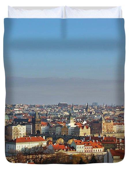 Little Mother Prague Duvet Cover by Christine Till