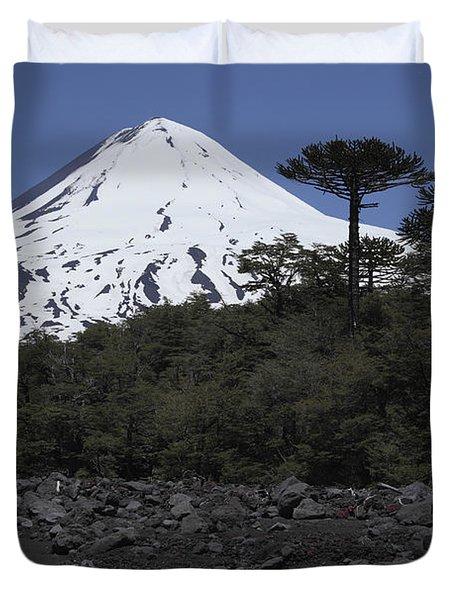 Llaima Volcano, Araucania Region, Chile Duvet Cover by Martin Rietze