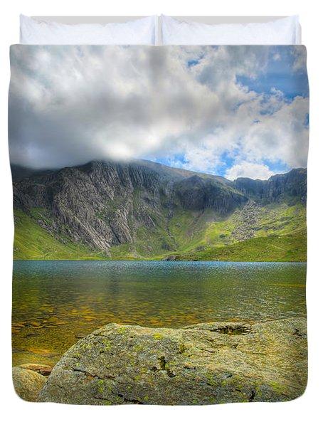 Llyn Idwal Duvet Cover by Adrian Evans