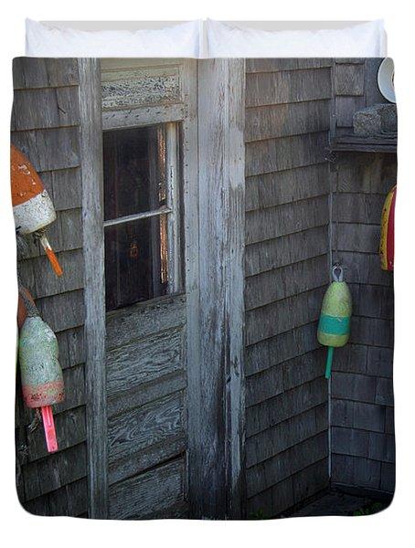 Lobsterman's House Duvet Cover by Brenda Giasson