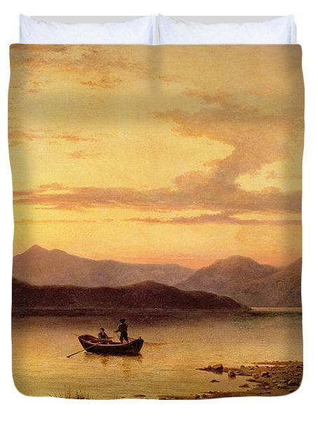 Loch Etive From Bonawe In The Evening Duvet Cover by George Edwards Hering