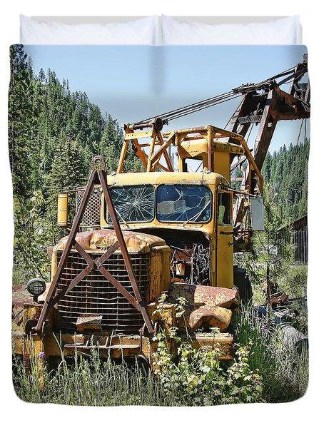 Logging Truck - Burke Idaho Ghost Town Duvet Cover by Daniel Hagerman