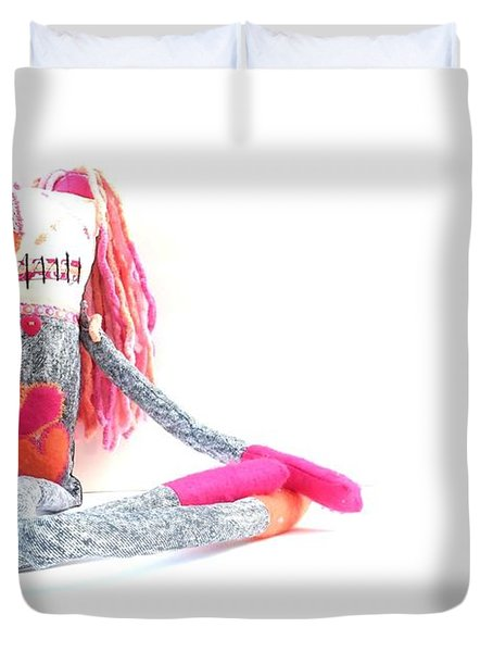 Lollipop The Zombie Raver Duvet Cover by Oddball Art Co by Lizzy Love