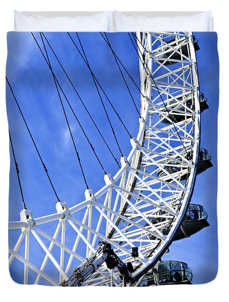 London Eye Duvet Cover by Elena Elisseeva