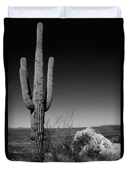 Lone Saguaro Duvet Cover by Chad Dutson