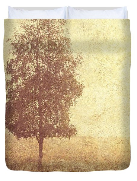 Lonely Tree. Trossachs National Park. Scotland Duvet Cover by Jenny Rainbow