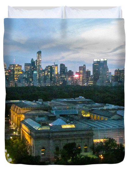Looking South NYC Duvet Cover by Randi Shenkman