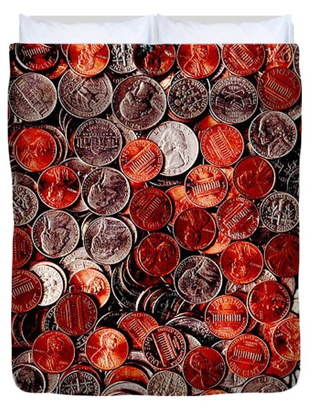 Loose Change . 2 to 1 Proportion Duvet Cover by Wingsdomain Art and Photography