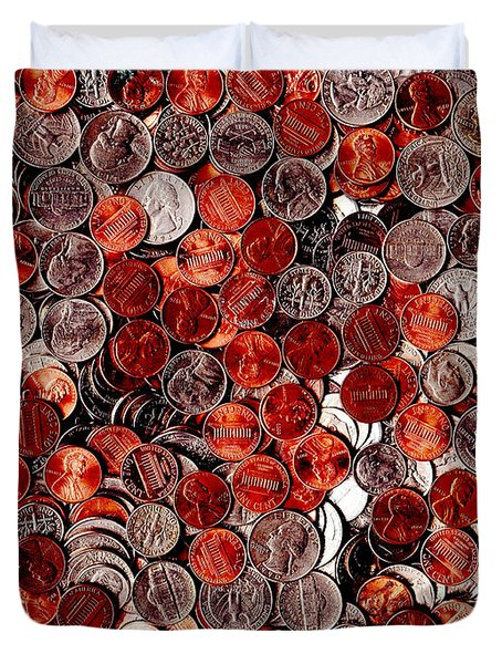 Loose Change . 9 to 12 Proportion Duvet Cover by Wingsdomain Art and Photography