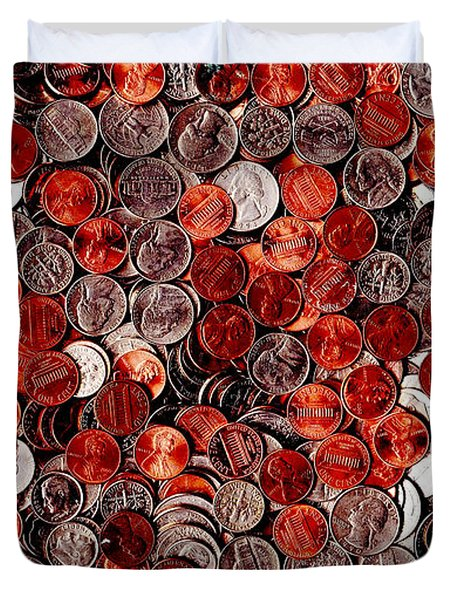 Loose Change . 9 to 16 Proportion Duvet Cover by Wingsdomain Art and Photography