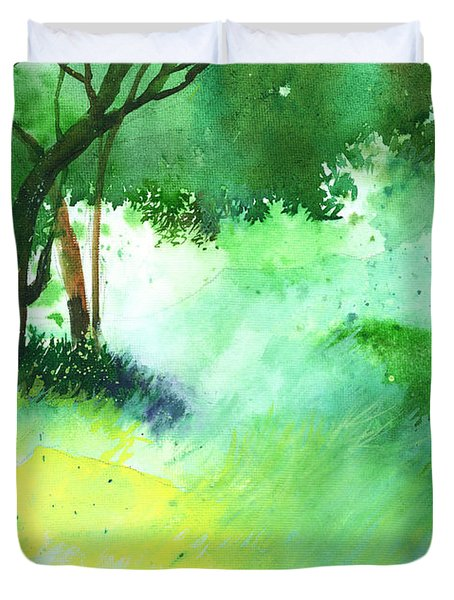 Lost in thought Duvet Cover by Anil Nene