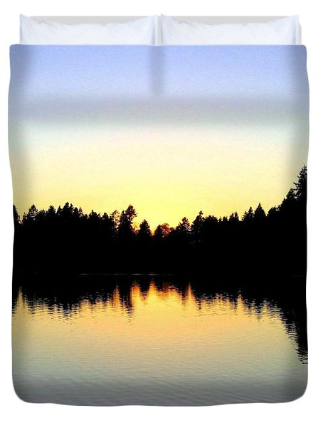 Lost Lagoon Sunset Duvet Cover by Will Borden
