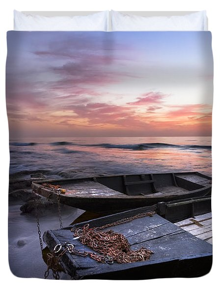 Lost Sailors Duvet Cover by Debra and Dave Vanderlaan