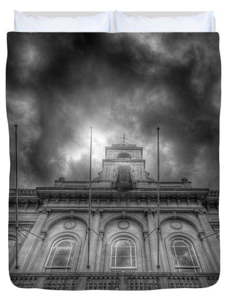 Loughborough Town Hall Duvet Cover by Yhun Suarez