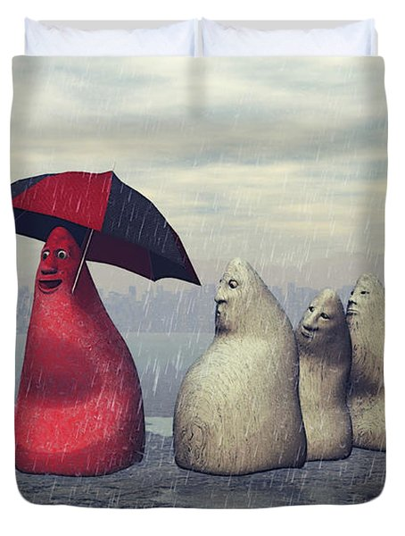 Lousy Weather Duvet Cover by Jutta Maria Pusl