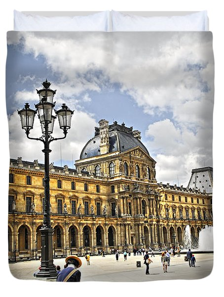 Louvre Museum Duvet Cover by Elena Elisseeva