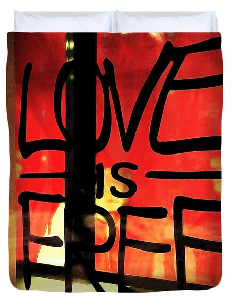 Love Is Free Duvet Cover by Cheryl Young