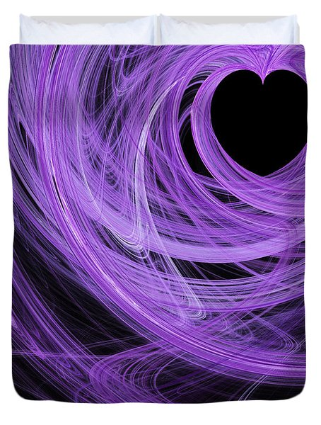 Love Swirls . A120423.689 Duvet Cover by Wingsdomain Art and Photography