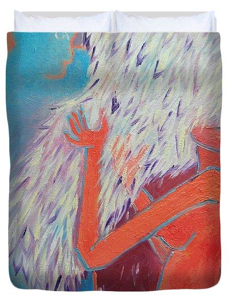 LOVING MY ANGEL Duvet Cover by ANA MARIA EDULESCU
